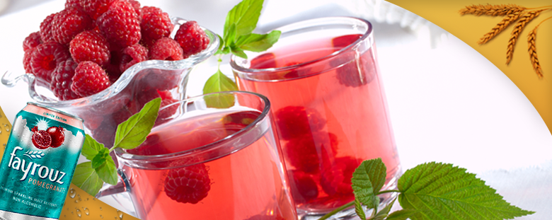 Raspberry and Fayrouz Pomegranate Cooler