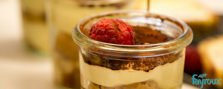 5 Minute Healthy Tiramisu with Raspberries