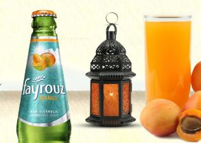 Fayrouz Mango and Kamr-Eldin Refreshner Mocktail