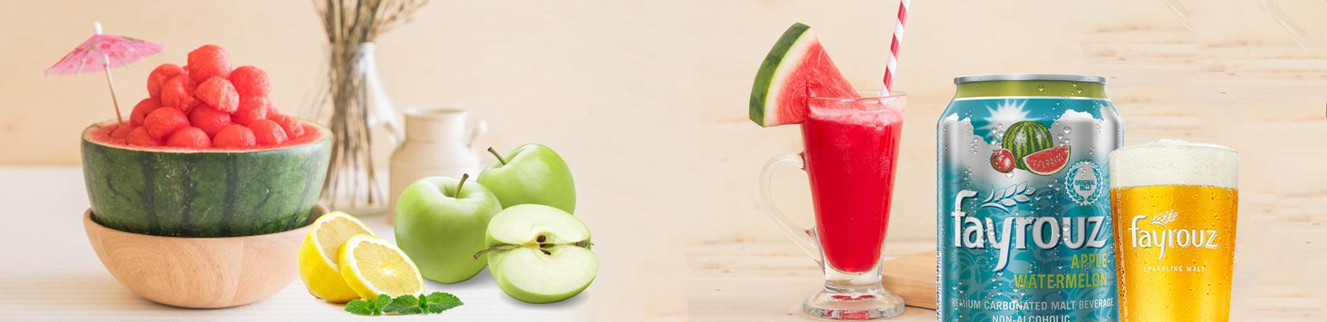 Fayrouz Watermelon & Apple With Lemon