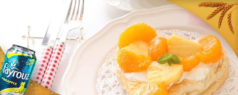 Pineapple with Fayrouz and Cream