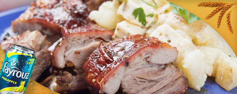Veal Ribs with Fayrouz Pineapple & Potatoes