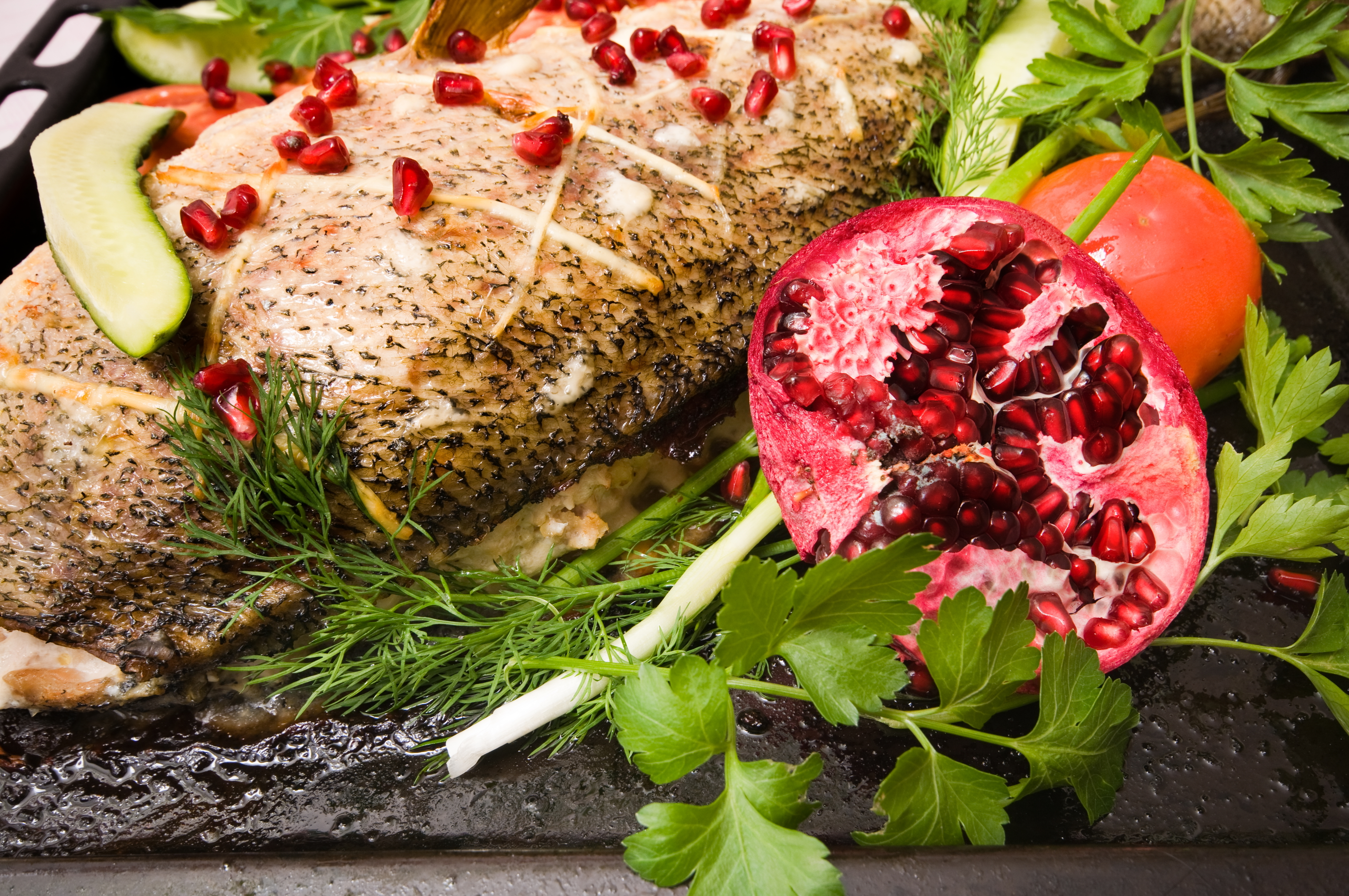 Fish with Fayrouz Pomegranate (Christmas Special)