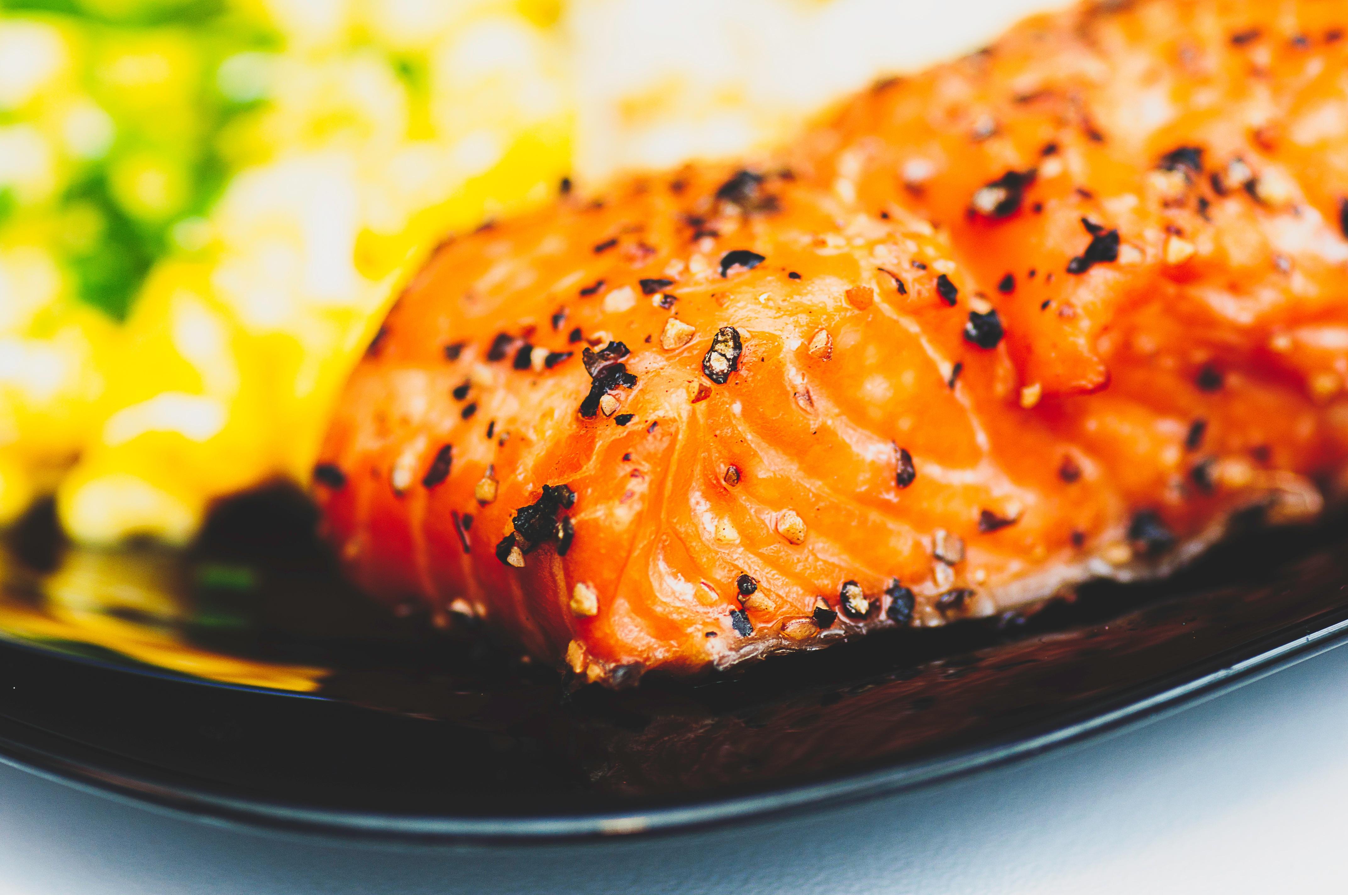 Black barley and Smoked Salmon Salad with Amstel Radler