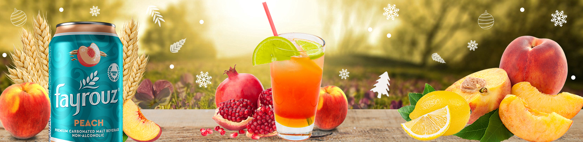 Peach Pomegranate Mocktail